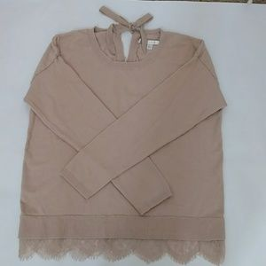 LC Lauren Conrad Lace Hem Sweater. Sz. L